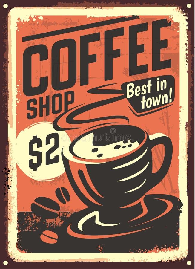 Projeto da casa do café do vintage ilustração do vetor