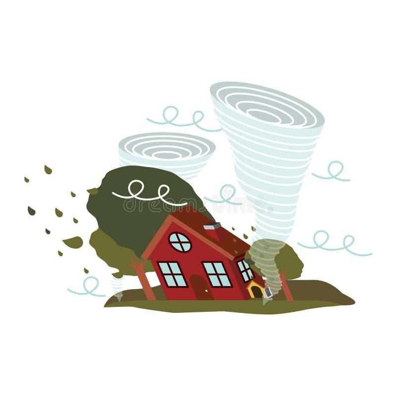 Projeto da catástrofe natural ilustração do vetor