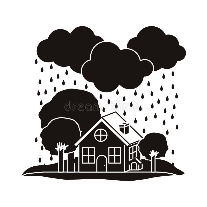 Projeto da catástrofe natural ilustração royalty free