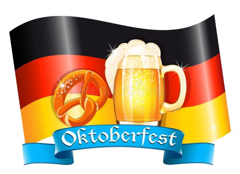 Projeto da celebração de Oktoberfest ilustração royalty free