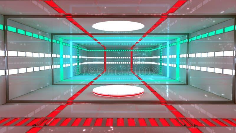 Download Interior futurista ilustração stock. Ilustração de conexão - 29830562