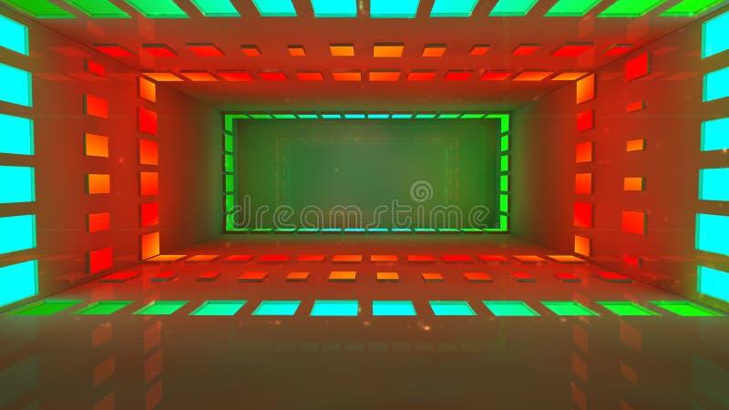 Download Interior futurista ilustração stock. Ilustração de tempo - 29830563