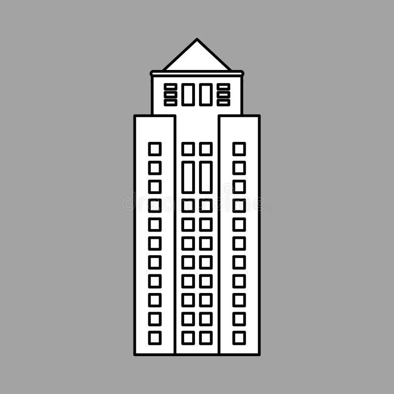 Projeto da cidade ícone da construção Ilustração isolada fotografia de stock