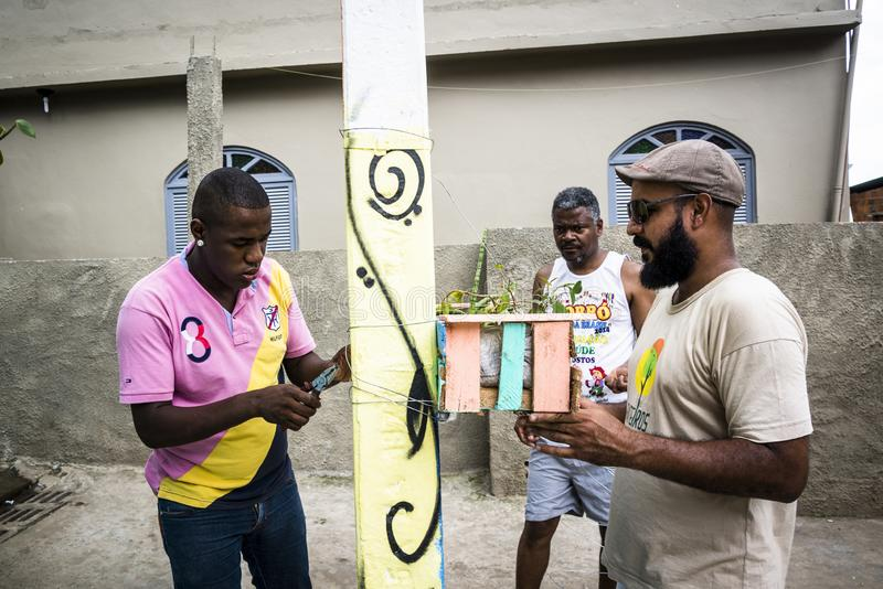 Projeto da comunidade, Salvador, Baía, Brasil imagens de stock