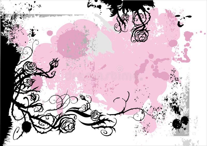 Projeto da cor-de-rosa de Grunge ilustração stock