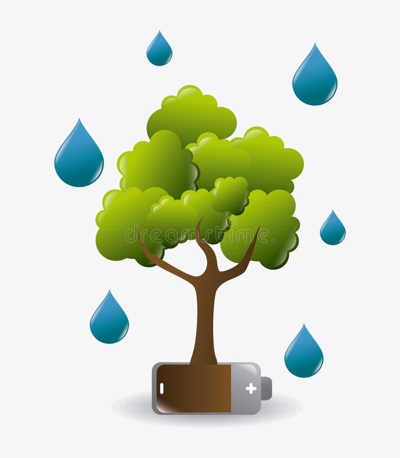 Projeto da ecologia ilustração stock