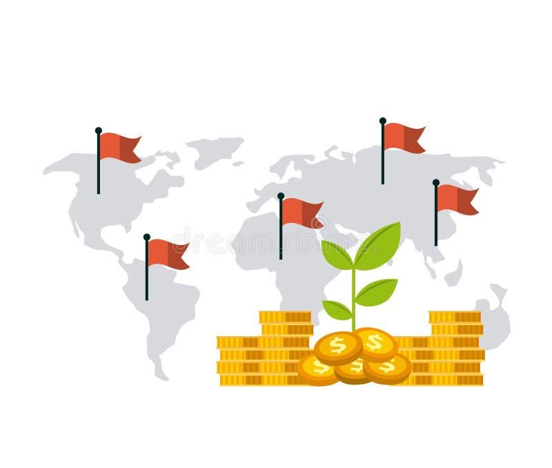 Projeto da economia dos fundos de crescimento ilustração stock