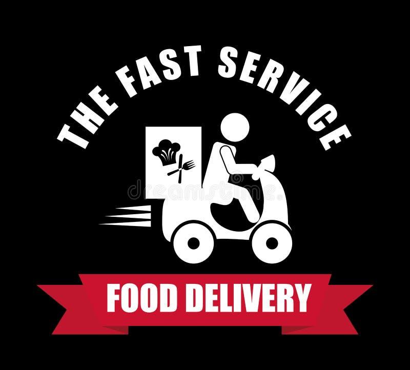 Projeto da entrega do alimento ilustração do vetor