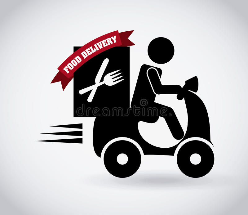 Projeto da entrega do alimento ilustração royalty free