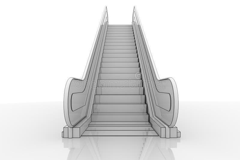 Projeto da escada rolante ilustração royalty free