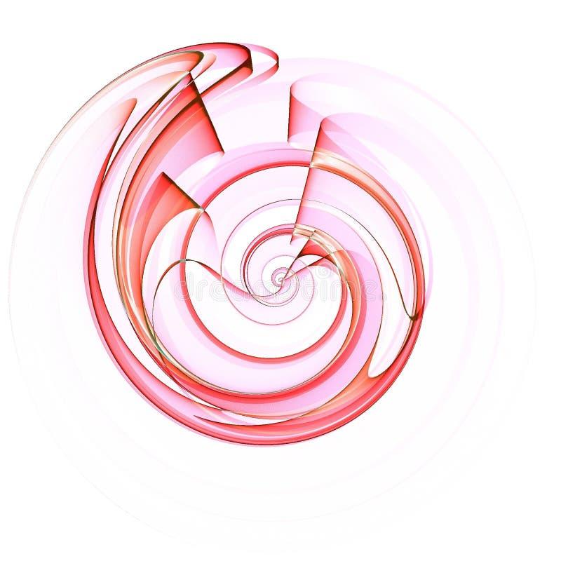 Projeto da espiral do escudo na cor-de-rosa ilustração stock