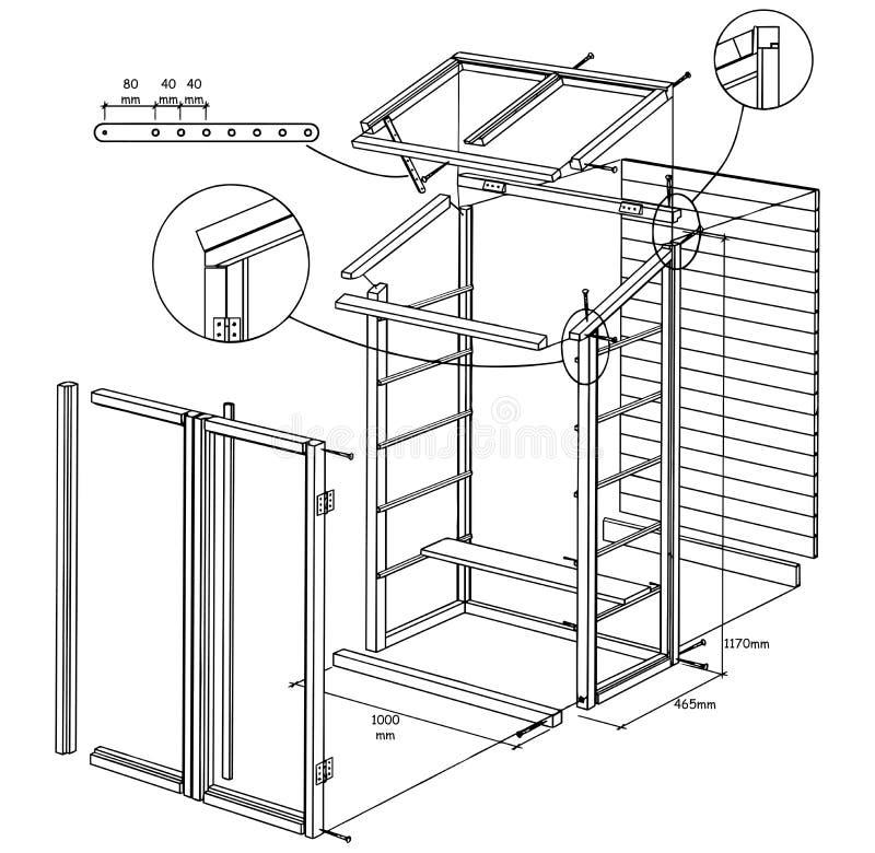 Projeto da estufa de DIY mini ilustração stock