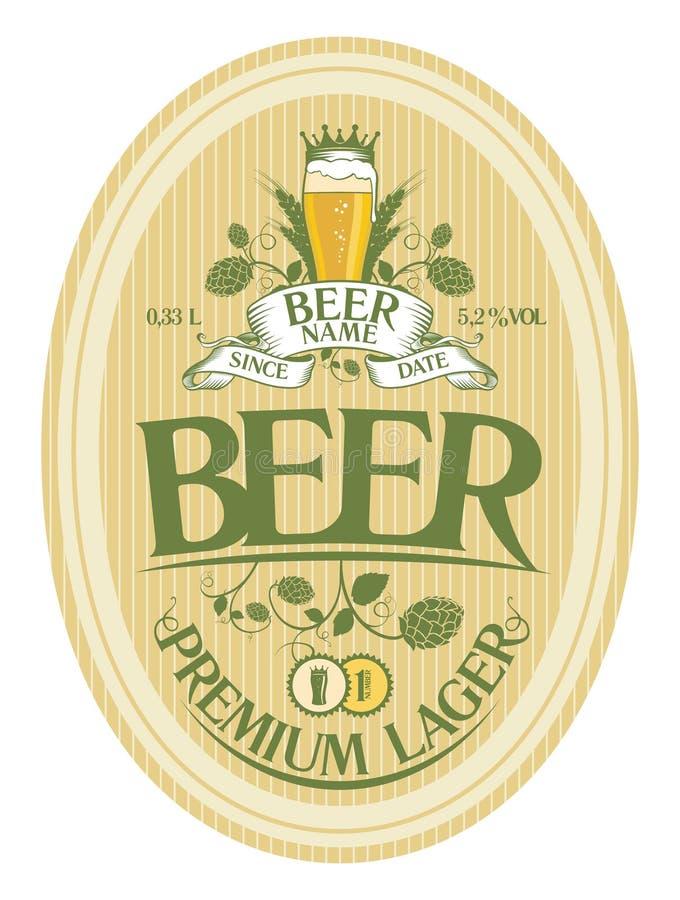 Projeto da etiqueta da cerveja. ilustração stock