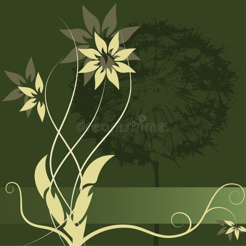 Projeto da etiqueta da flor do vetor imagem de stock royalty free