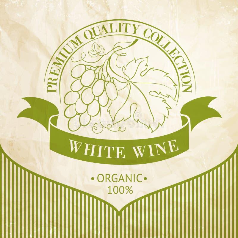 Projeto da etiqueta para o vinho ilustração do vetor