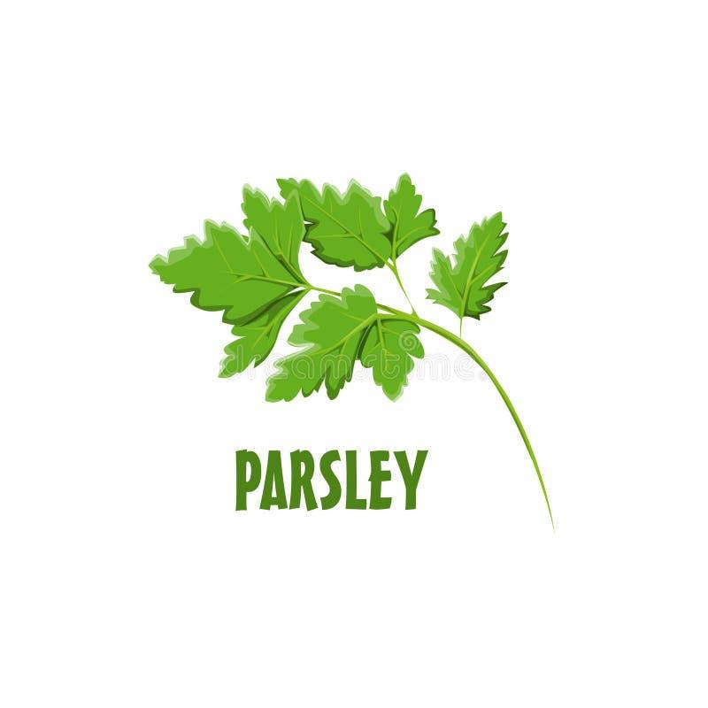 Projeto da exploração agrícola de Logo Parsley ilustração royalty free