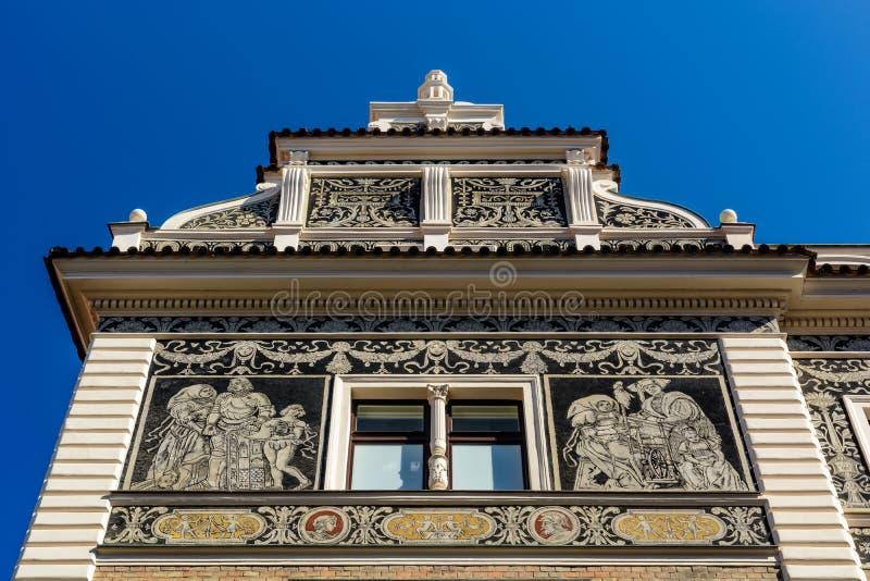 Projeto da fachada da construção imagens de stock