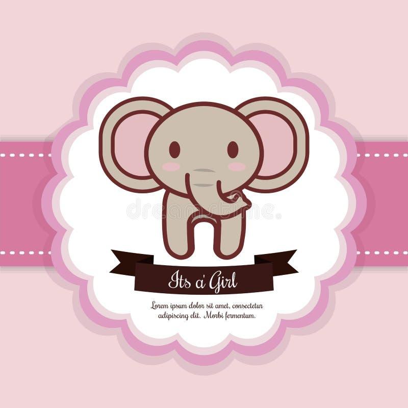 Projeto da festa do bebê ilustração stock