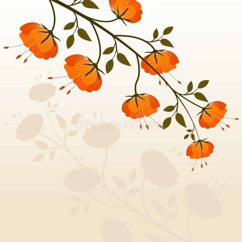 Projeto da flor ilustração royalty free