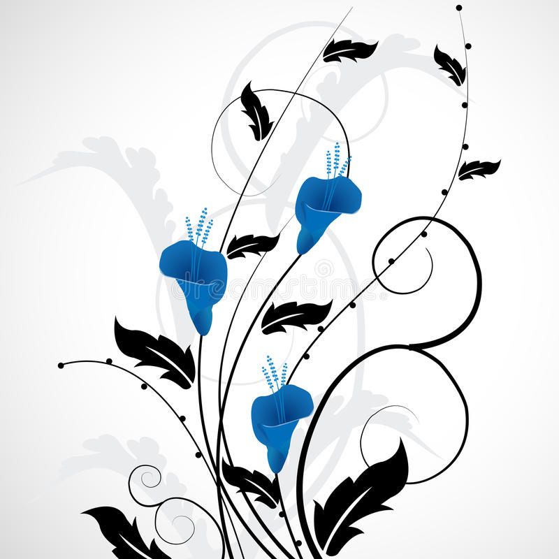 Projeto da flor ilustração stock