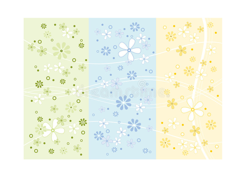 Projeto da flor da mola ilustração do vetor