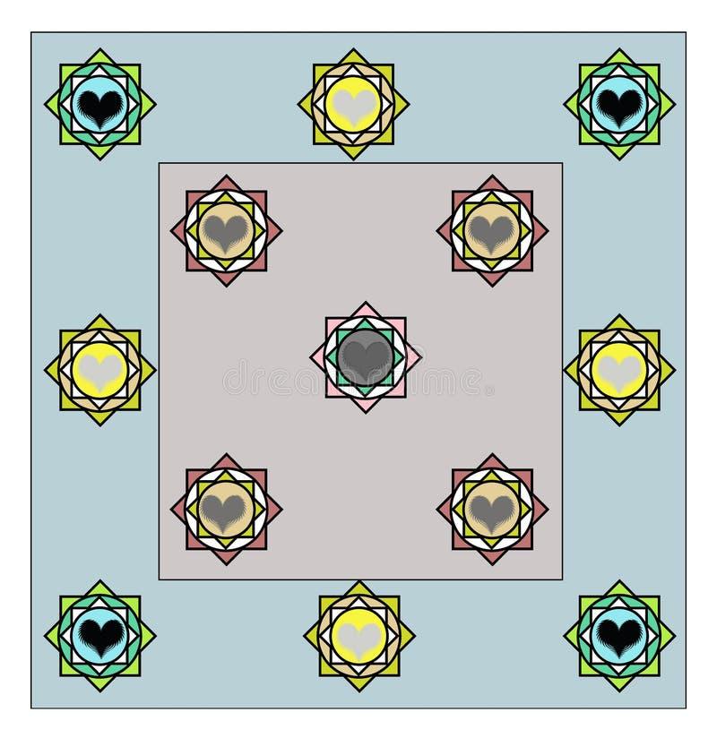 Projeto da folha de cama todo o revestimento da camada ilustração royalty free