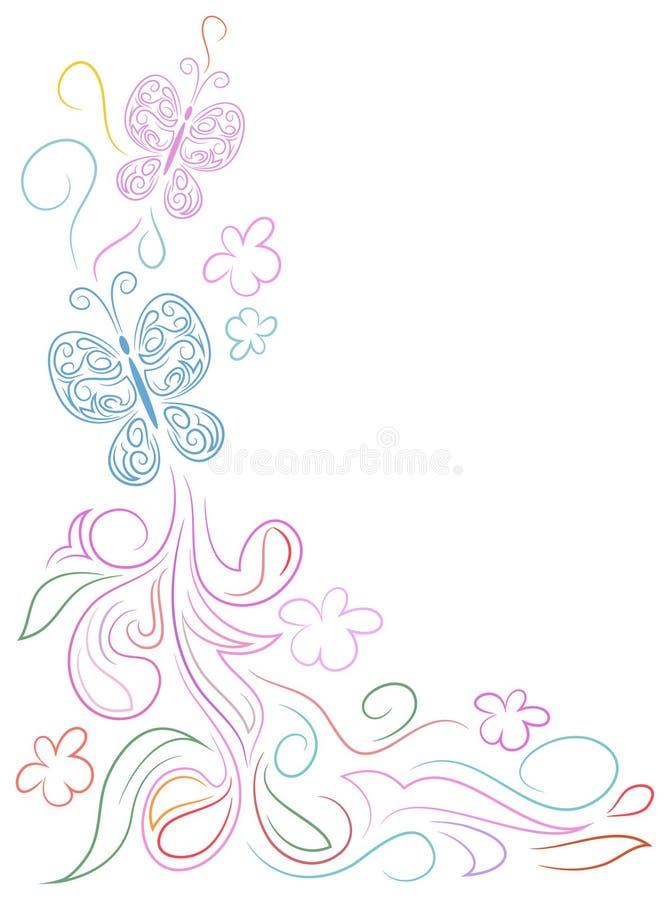 Projeto da garatuja da borboleta ilustração do vetor