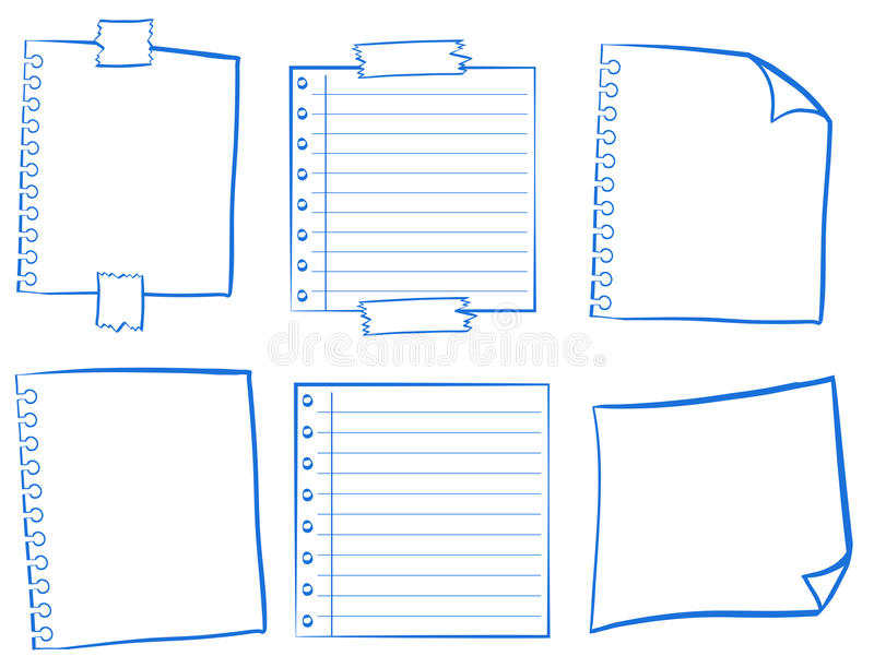 Projeto da garatuja para papéis vazios ilustração stock