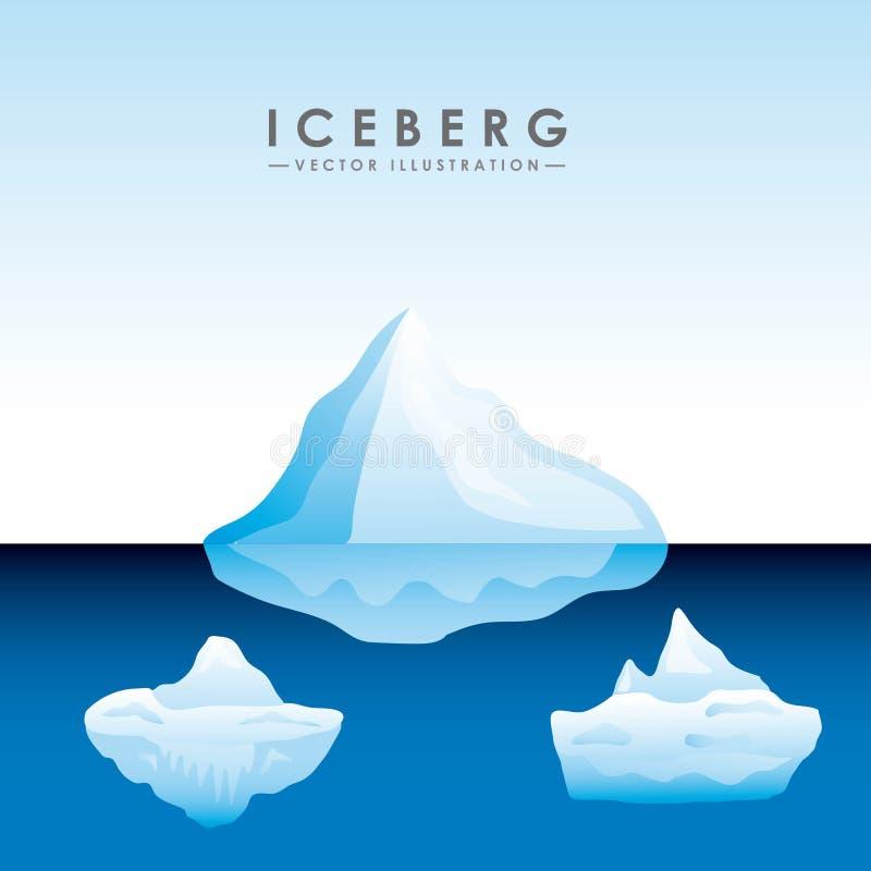 projeto da geleira do iceberg ilustração royalty free