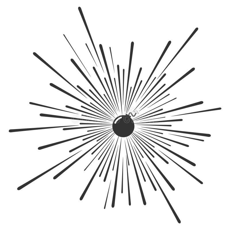 Projeto da ilustração da bomba ilustração do vetor
