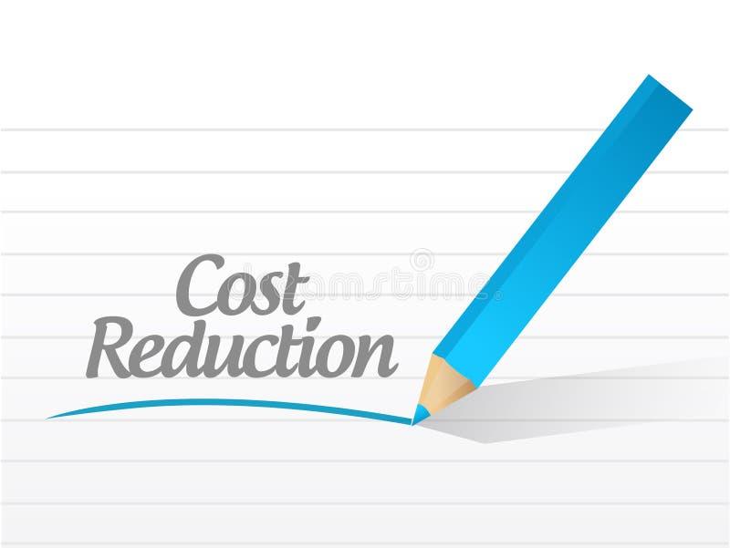 Projeto da ilustração da mensagem da redução de custo ilustração do vetor