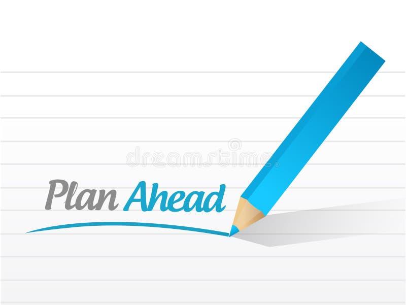 Projeto da ilustração da mensagem do plano adiante ilustração do vetor