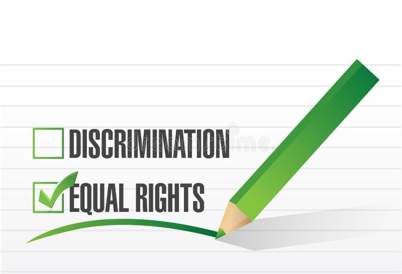 Projeto da ilustração da seleção dos direitos do igual ilustração stock