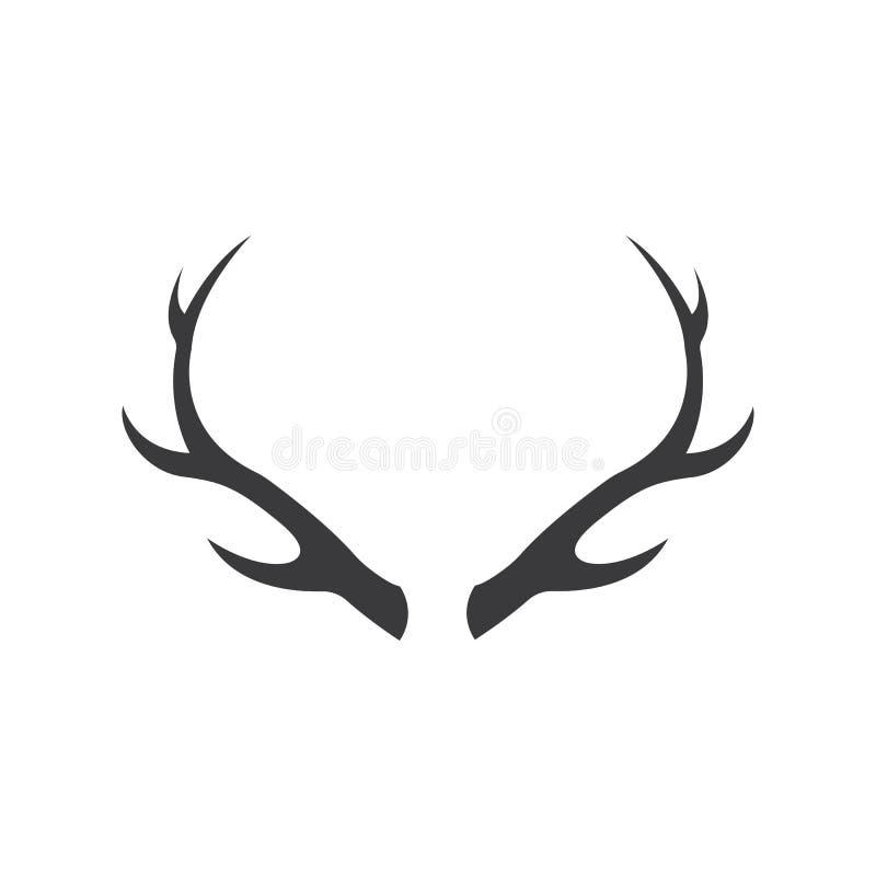 Projeto da ilustração do ícone do vetor de Logo Template dos chifres dos cervos ilustração do vetor