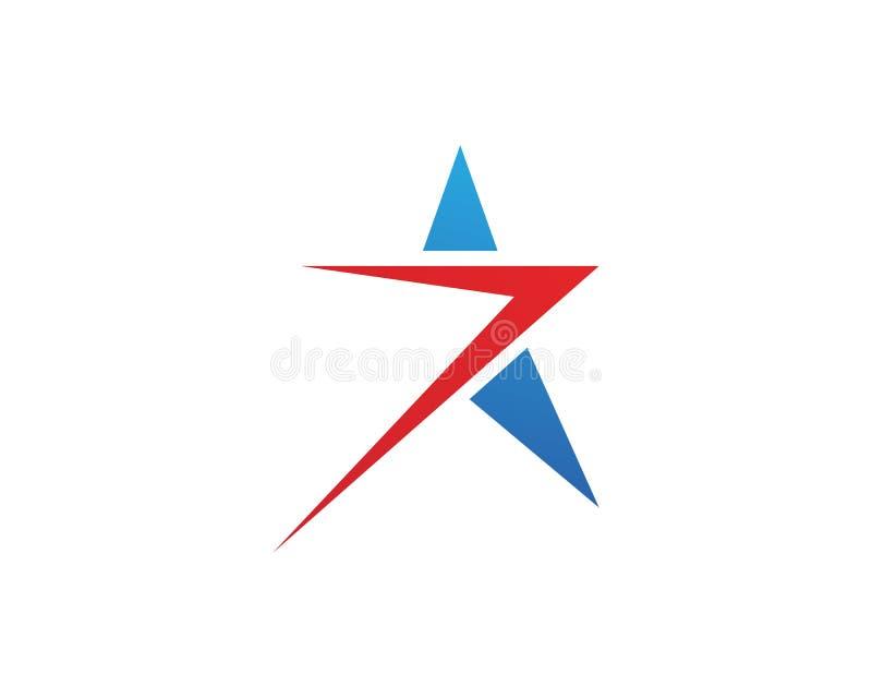 Projeto da ilustração do ícone do vetor de Logo Template da estrela ilustração do vetor