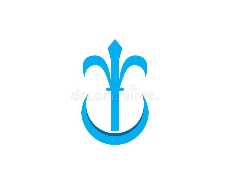 Projeto da ilustração do ícone do vetor de Trident Logo Template ilustração do vetor