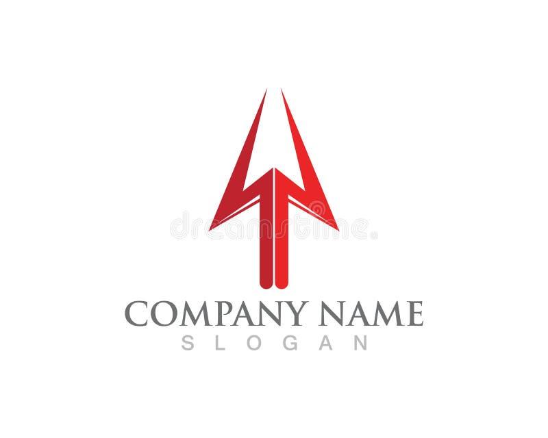 Projeto da ilustração do ícone do vetor de Trident Logo Template ilustração royalty free