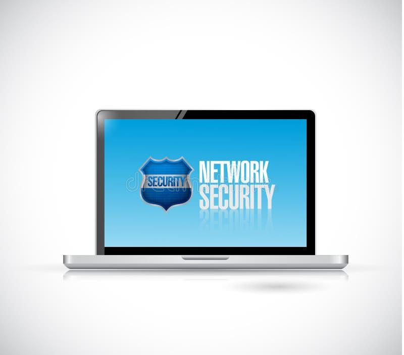 Projeto da ilustração do computador da segurança da rede ilustração do vetor