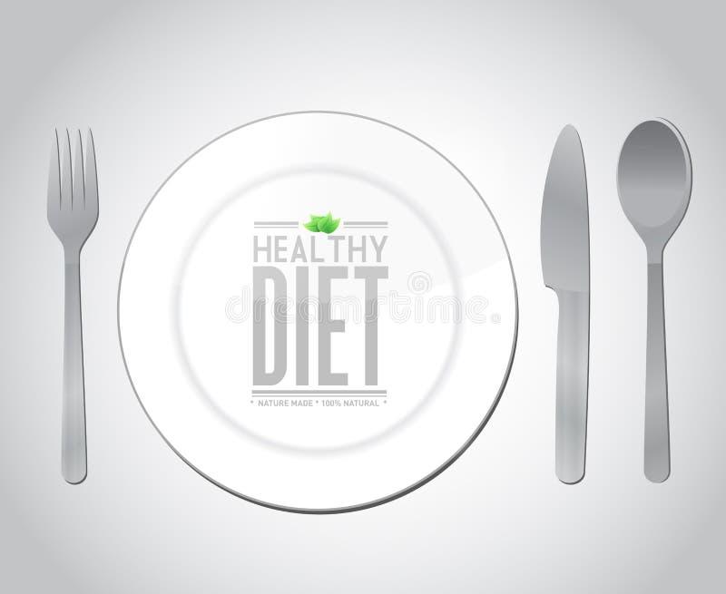 Projeto da ilustração do conceito da dieta saudável do alimento ilustração do vetor