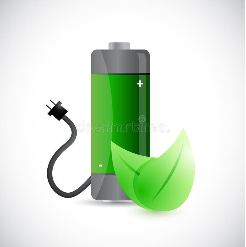 Projeto da ilustração do conceito da energia da renovação ilustração do vetor
