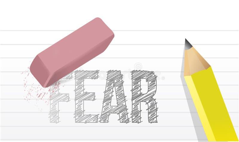 Projeto da ilustração do conceito dos medos do Erase ilustração royalty free