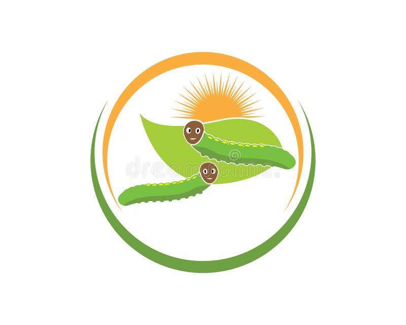 projeto da ilustração do vetor do ícone do logotipo da lagarta ilustração stock