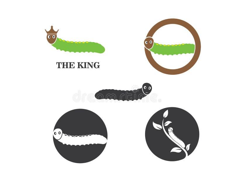 projeto da ilustração do vetor do ícone do logotipo da lagarta ilustração royalty free