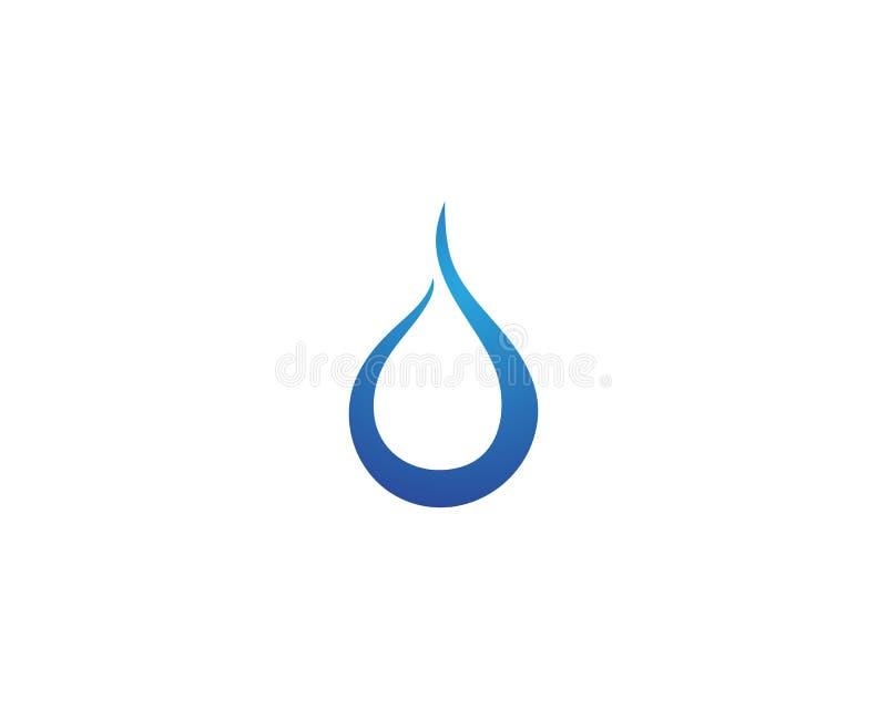 Projeto da ilustração do vetor de Logo Template da gota da água ilustração royalty free