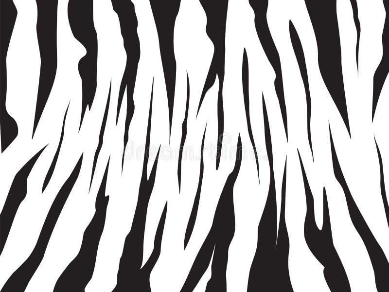 Projeto da ilustração do vetor do fundo do teste padrão da zebra editável ilustração royalty free