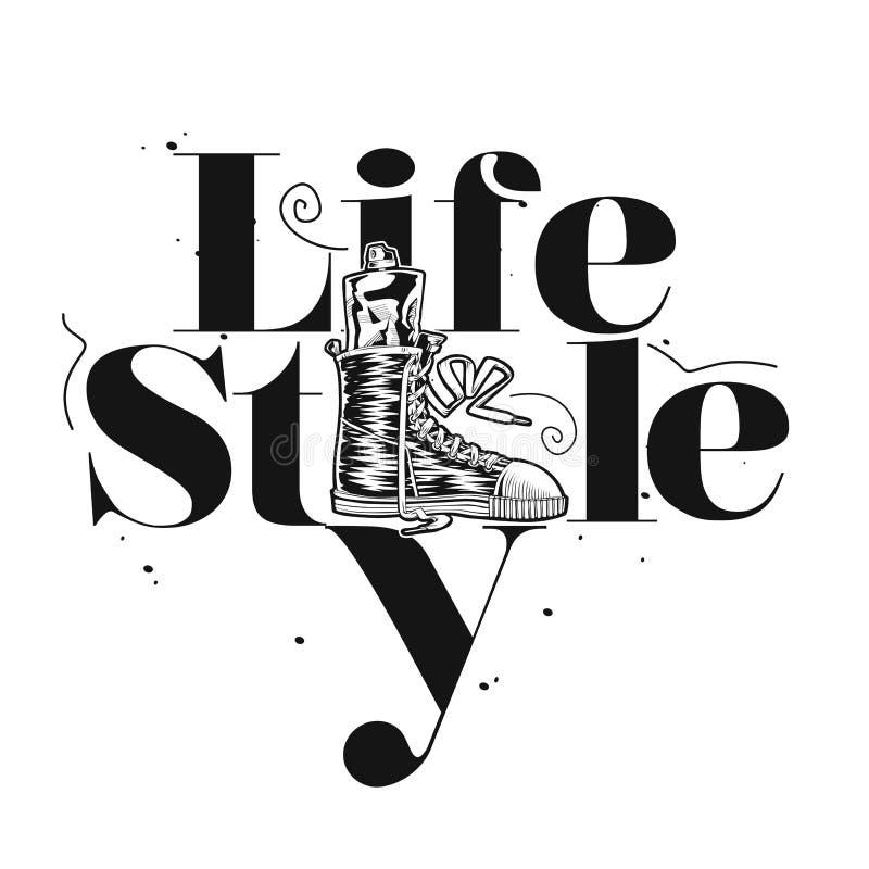 Projeto da ilustração do vetor do estilo de vida ilustração royalty free
