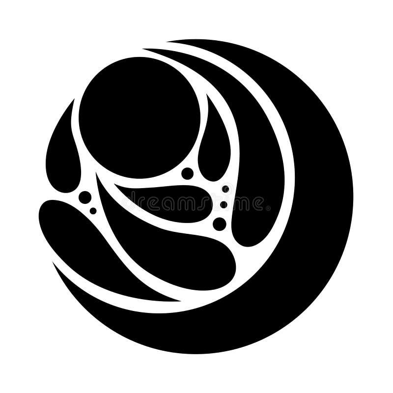 Projeto da ilustração do vetor do sinal do ícone do logotipo do símbolo abstrato ilustração stock