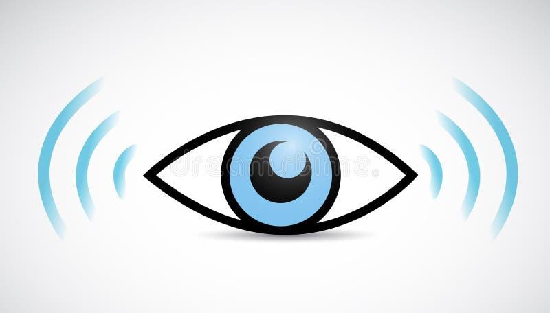 Projeto da ilustração do wifi do olho ilustração royalty free