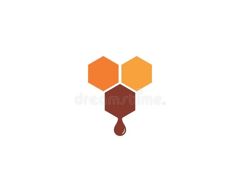 Projeto da ilustra??o do ?cone do vetor de Logo Template da abelha ilustração stock