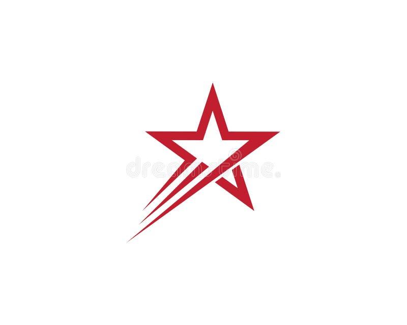 Projeto da ilustra??o do molde do logotipo da estrela ilustração stock